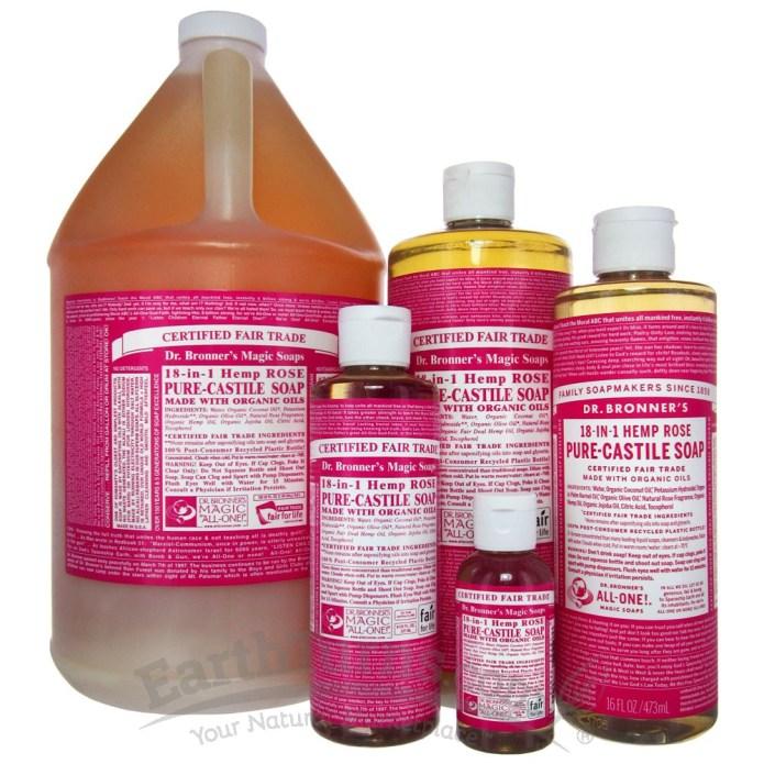 Dr Bronners Rose Hemp Soap
