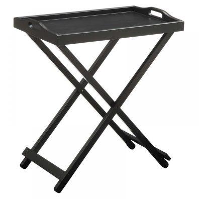 Folding TV Tray Table Hayneedle Black