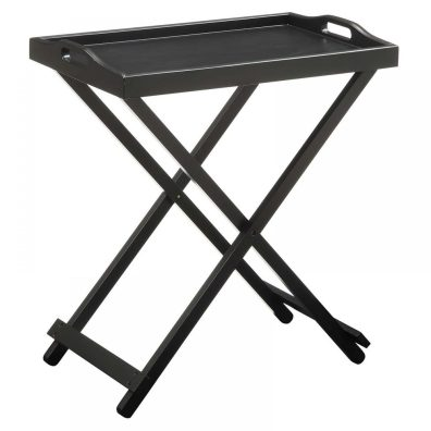 Folding TV Tray Table Hayneedle Black