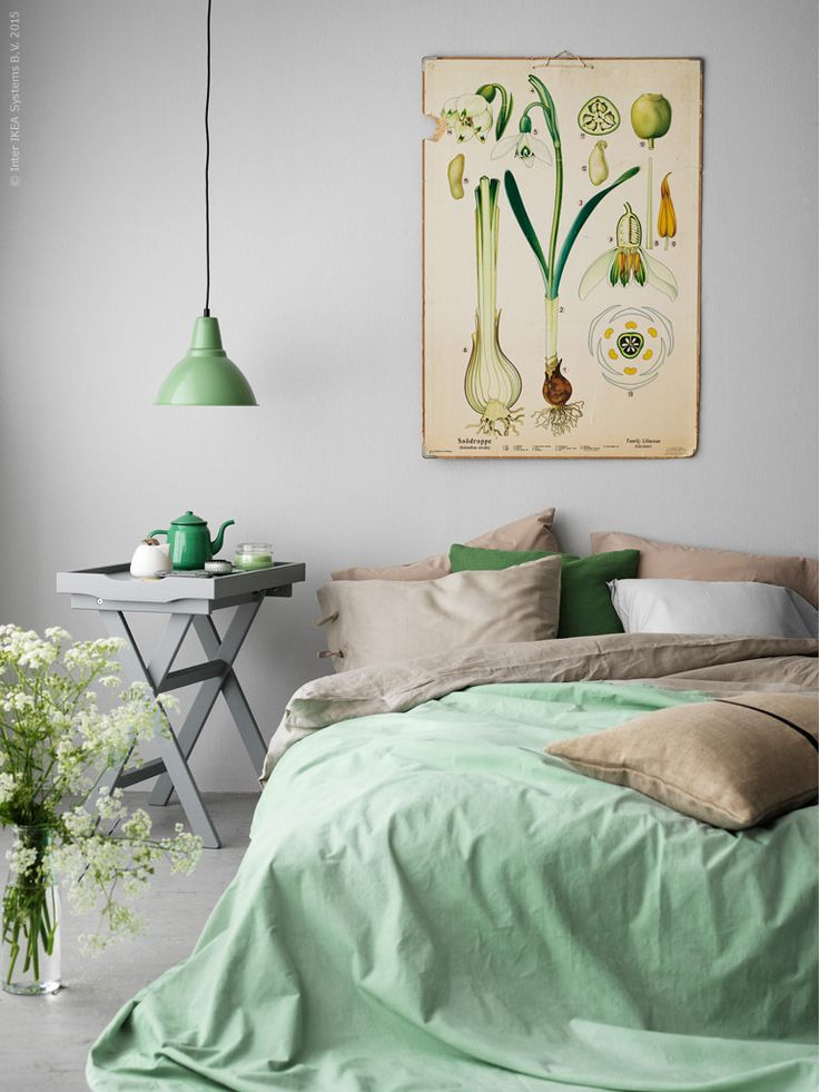 IKEA Bedroom Inspiration: Mint, Taupe, & am Onion Print