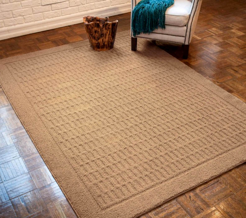 Rug with Chair Teal Blanket