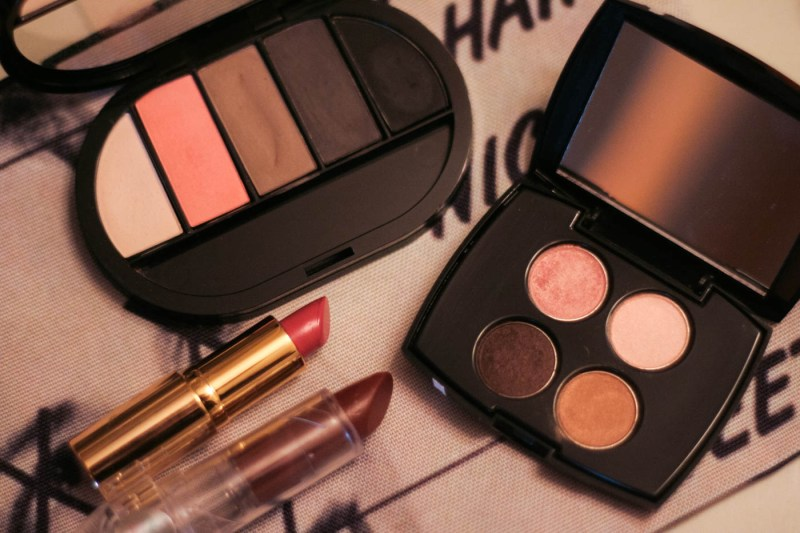 used cosmetics sephora shu uemura bareminerals lipstick eyeshadow palettes