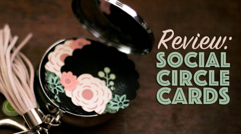 customizable business cards case online social circle cards unique shape cute designs