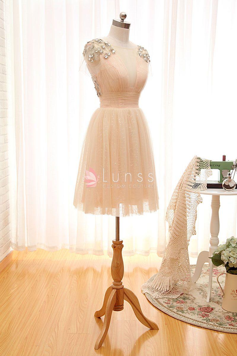 Embellished Skater Skirt Bridesmaid Dress