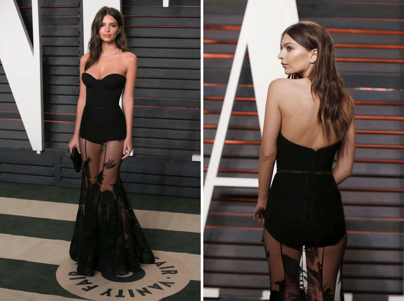 US model Emily Ratajkowski poses as she arrives to the 2016 Vanity Fair Oscar Party in Beverly Hills, California on February 28, 2016. / AFP / ADRIAN SANCHEZ-GONZALEZ (Photo credit should read ADRIAN SANCHEZ-GONZALEZ/AFP/Getty Images)