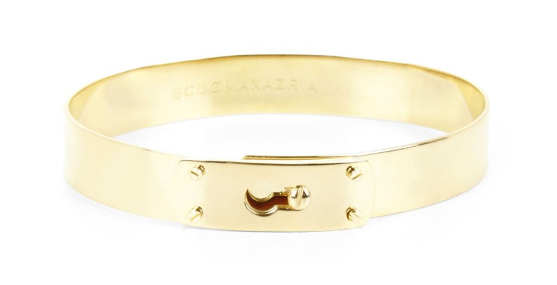BCBGMaxAzria Locking Gold Bracelet