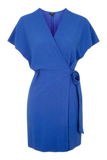 Cobalt Blue Topshop Tie Wrap Dress