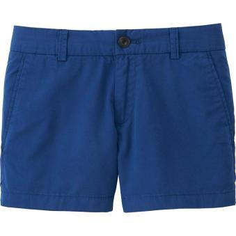 Uniqlo Cobalt Blue Chino Micro Shorts