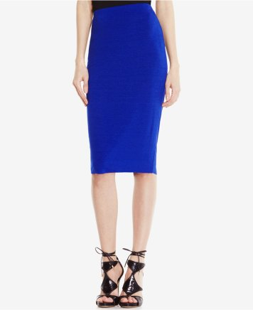 Vince Camuto Stretch Knit Pencil Skirt Cobalt Blue
