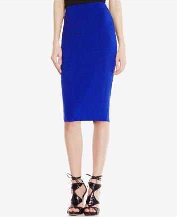 Vince Camuto Stretch Knit Pencil Skirt Cobalt Blue