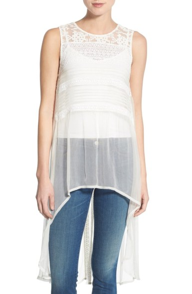 Willow and Clay Embroidered Sleeveless Tunic