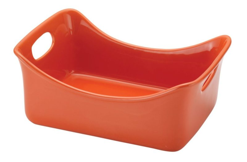 orange baking dish stoneware celebrity kmart kitchen cooking casserole