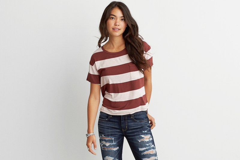 AEO Soft & Sexy Rugby Stripes T-Shirt