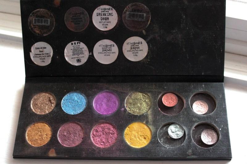 My DIY Pressed Indie Eyeshadow Collection