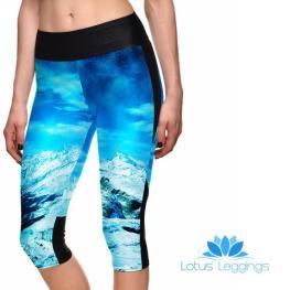 Glacier Mountain Cropped Athletic Leggings, $8.99 (reg. $49.99)