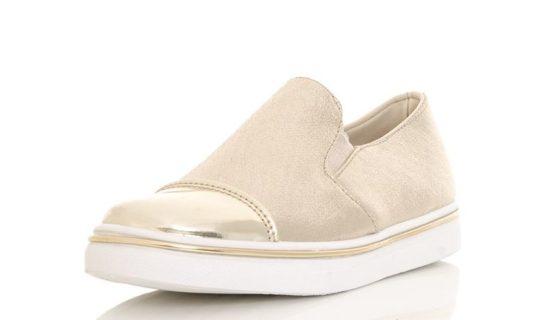 Gold Shimmer Metallic Toe Sneakers, $38.16