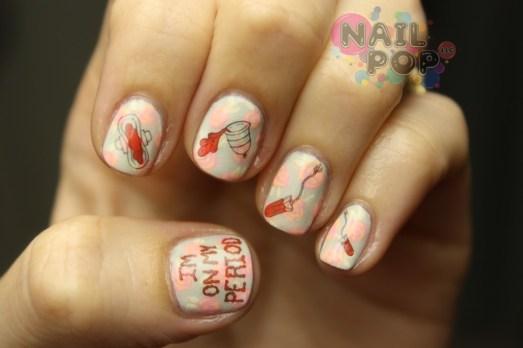 Nail Pop LLC - On My Period Nail Decals