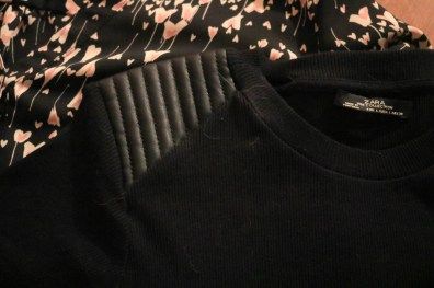 LC Lauren Conrad Blouse & Zara Sweater from Swap.com