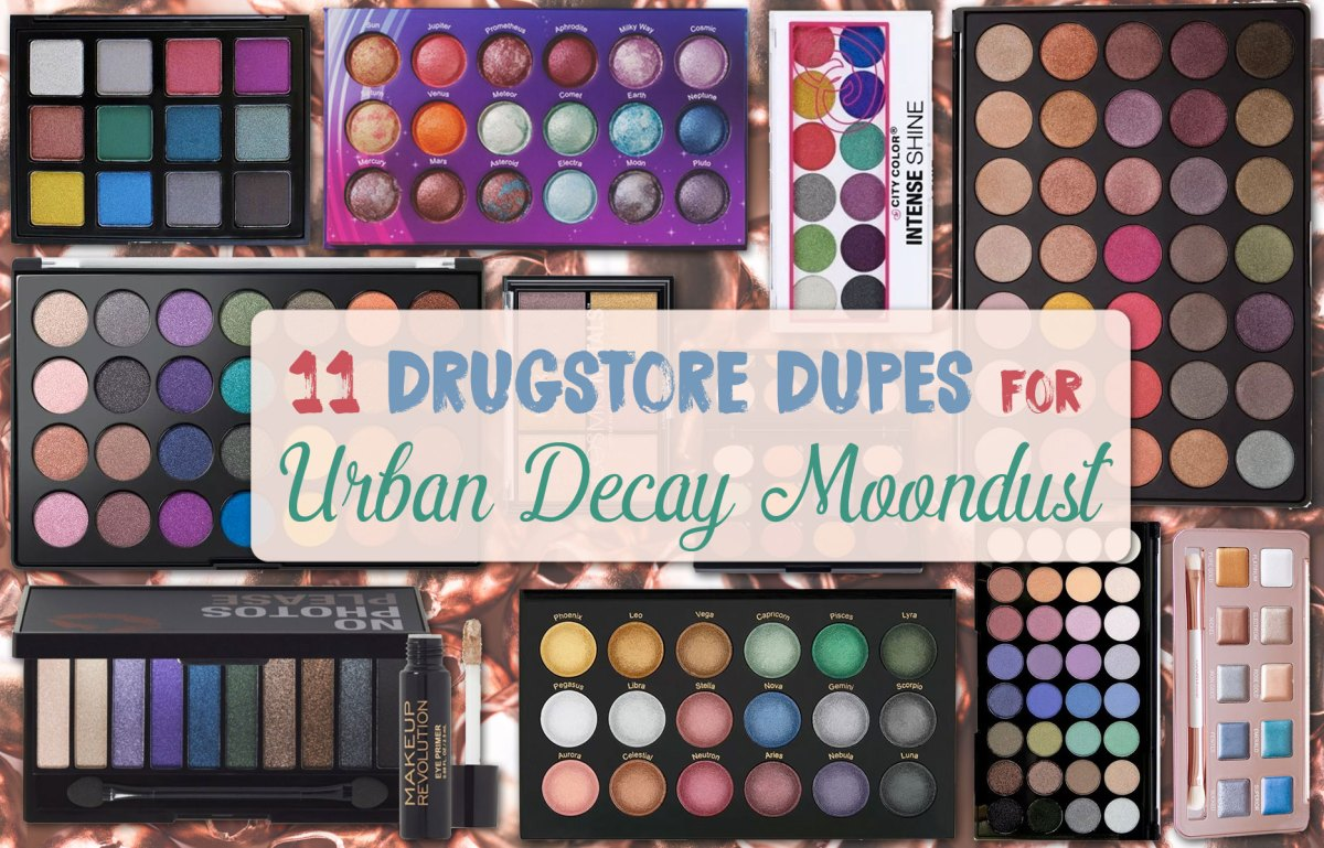 11 Drugstore Dupes for the Metallic UD Moondust Palette