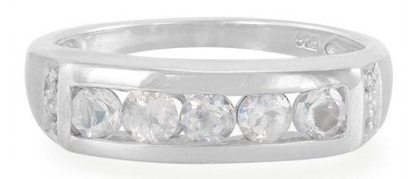 Rainbow Moonstone Silver Ring, $29