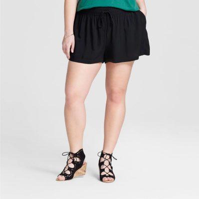 Target Black Plus Size Soft Shorts Pockets