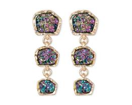 SUGARFIX Rainbow Druzy Drop Earrings, $12.99 $6.48