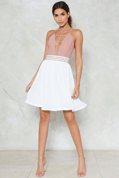 Nasty Gal Swing State High Waist Skirt