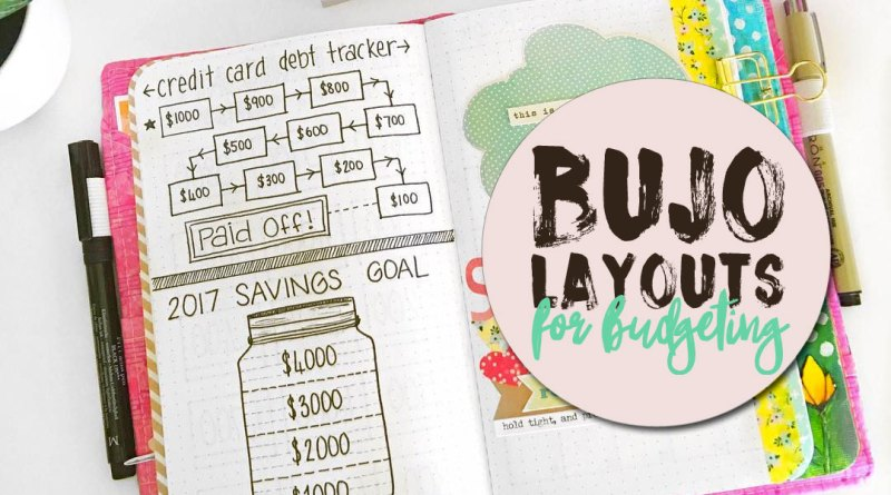 23 gorgeous bullet journal layouts for budgeting saving money