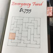 Emergency Fund Puzzle Bullet Journal Layout