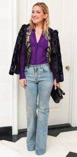 Kate Hudson Velvet Layered Jacket