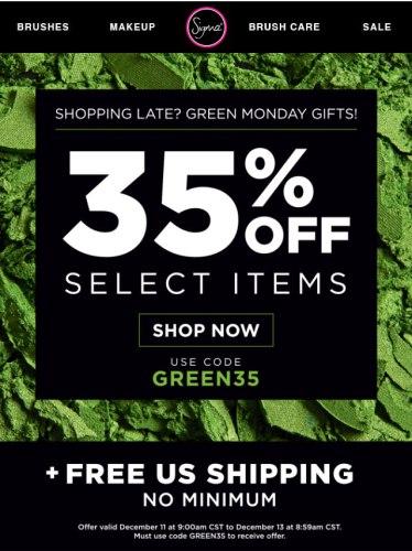 Sigma Beauty Green Monday: 35% Off + Free Shipping (No Min.)
