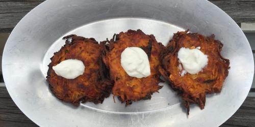 Spicy Sweet Potato Latkes
