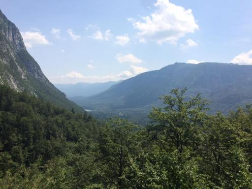 The view of the U Valley from Slap Savica