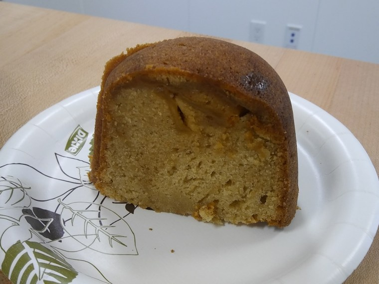 Slice of caramel apple bundt cake