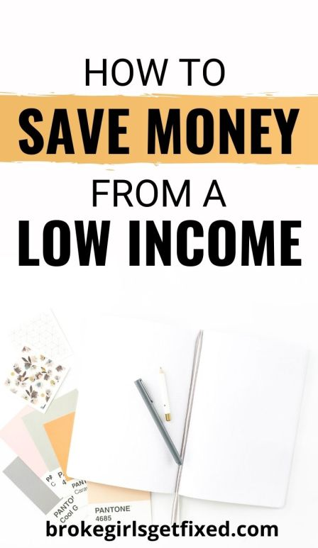 even with a very low income you can save money