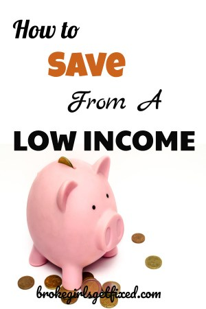How to save from a low income