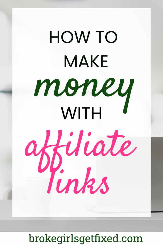 how to make money with affiliate links