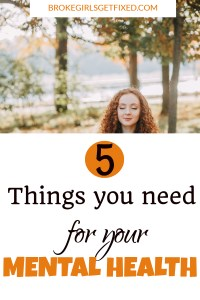 things you need for your mental health