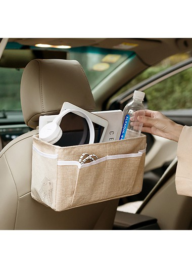 brown storage baskets for bed side and car back seats