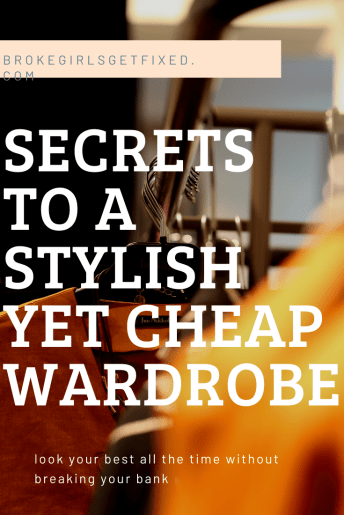 secrets to a stylish yet cheap wardrobe