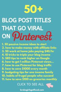 blog post title that go viral on Pinterest