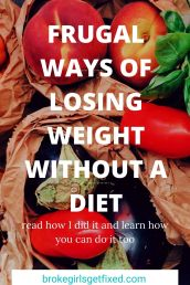 frugal ways to lose weight without a diet