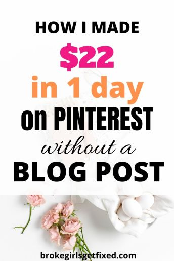 how to make money on Pinterest without a blog post