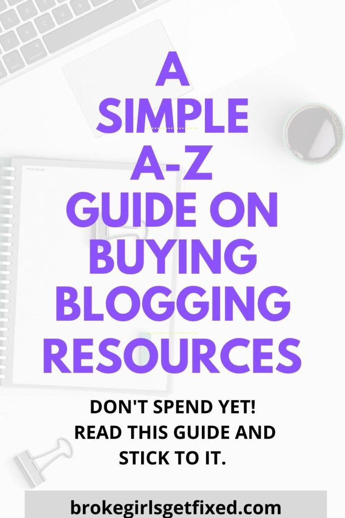 a simple a-z guide on buying blogging resources