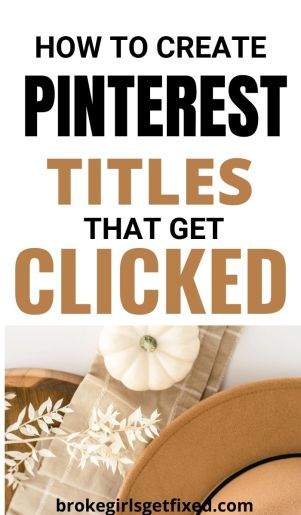 create pinterest titles that get clicked