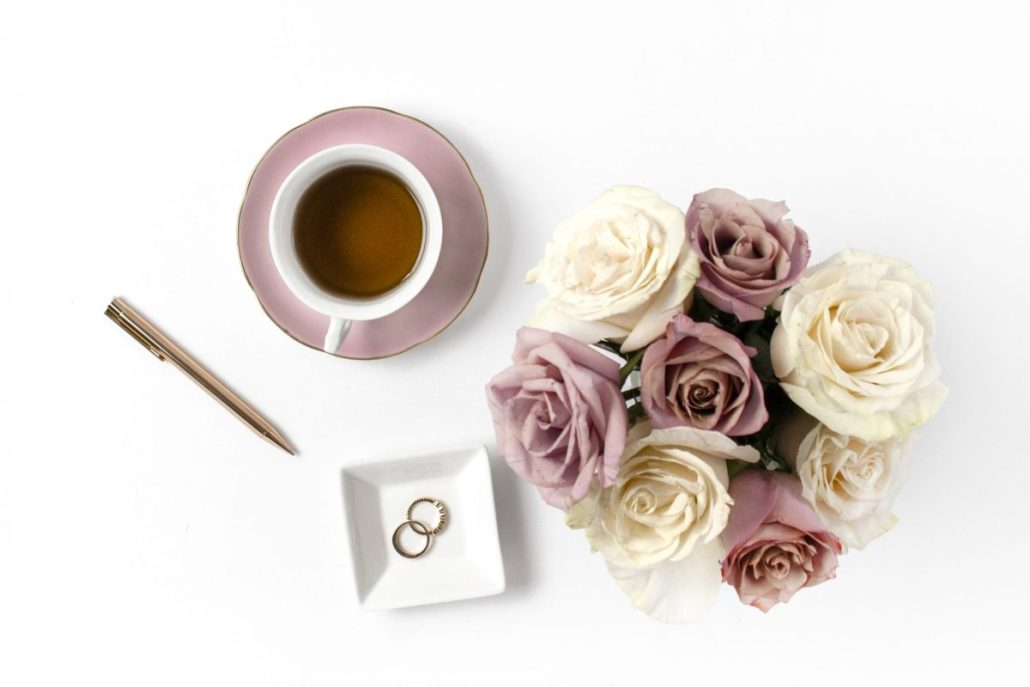 good spending habits you must start. blush mockups with roses and tea cup