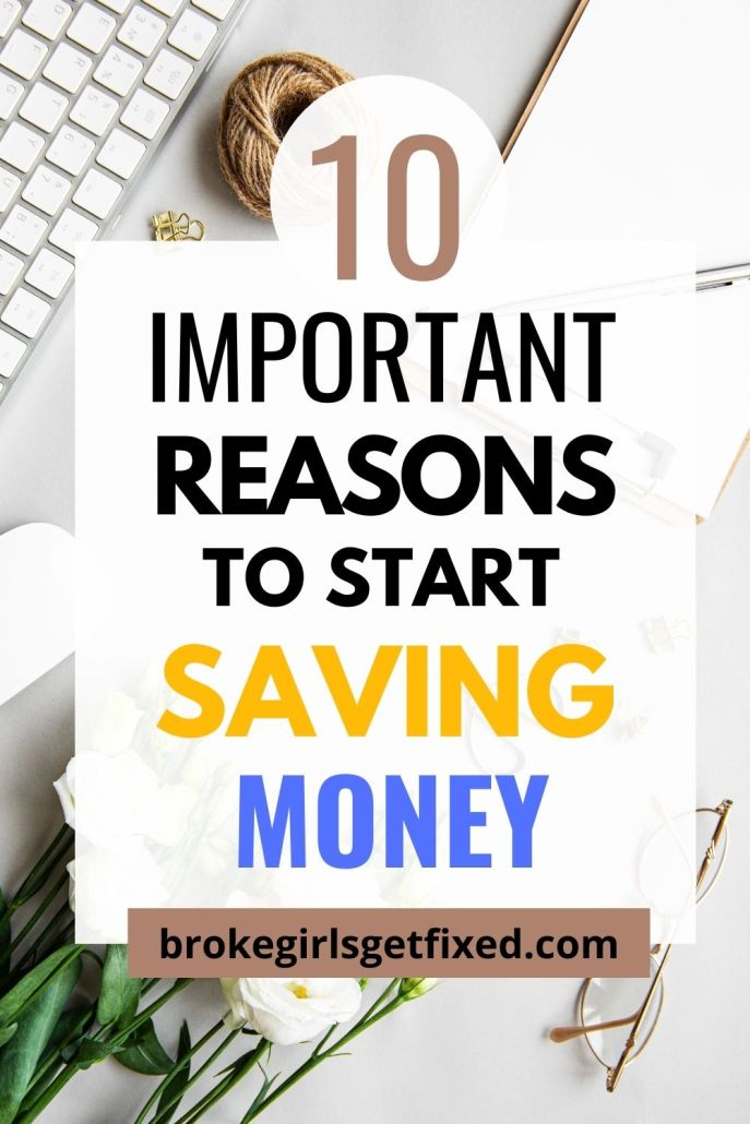 important reasons to save money