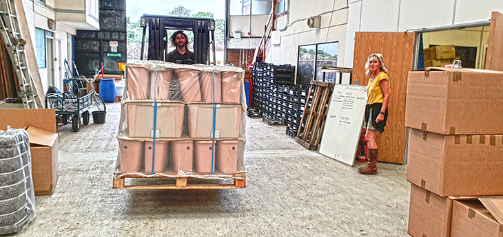New warehouse forklift