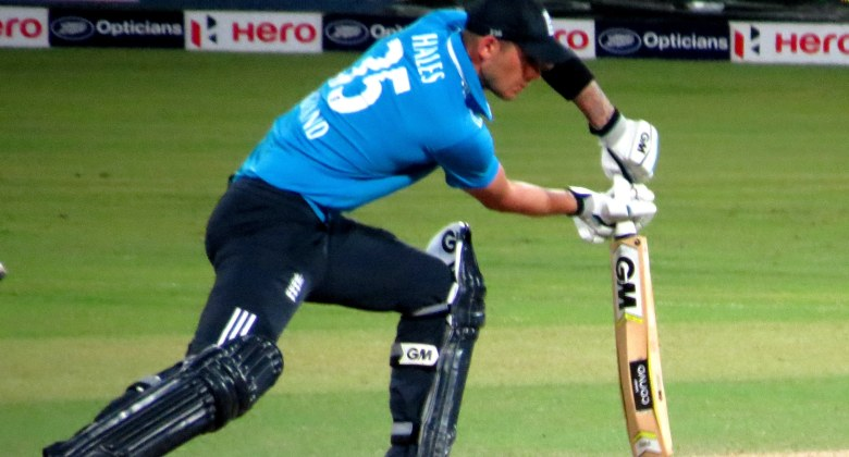 Photo of Alex Hales playing a shot in ODI