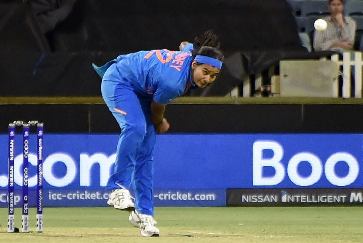 Photo of Shikha Pandey, missing from the India Vs South Africa Women series